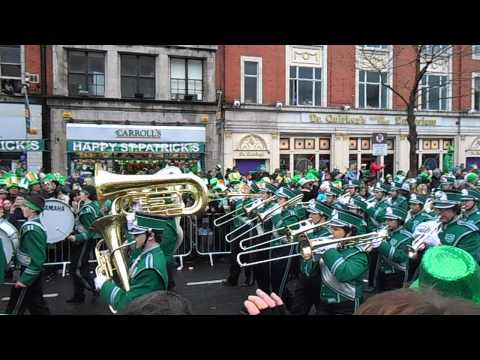 Brewster High School Marching Bears - Saint Patrick's Parade Dublin 2013