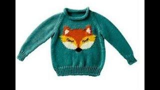 Детский Пуловер Спицами - 2018 / Children's Pullover / Kinder Pullover