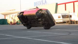 Monster truck la Oradea - maşină în două roţi şi drifturi