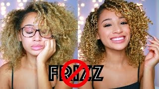 How To Get Rid Of Frizzy Curly Hair!