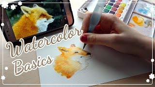? How To Watercolor    The Basics! ?