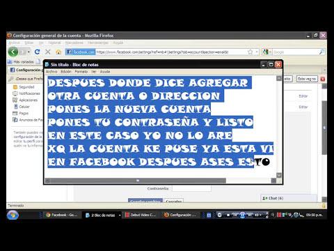 Como cambiar la direccion de correo electronico en facebook