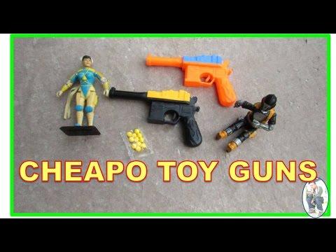 SMALL CHEAPO TOY PELLET GUNS (Raw Video)