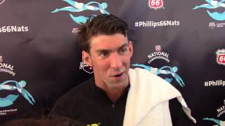 Michael Phelps, North Baltimore (after 200 fly final at U S  Nationals)