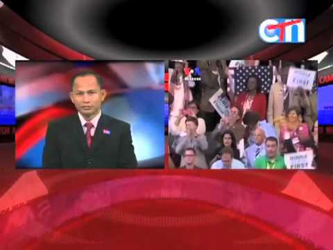 Clinton Speaks for Obama as VOA Khmer's Reasey Poch Reports on CTN