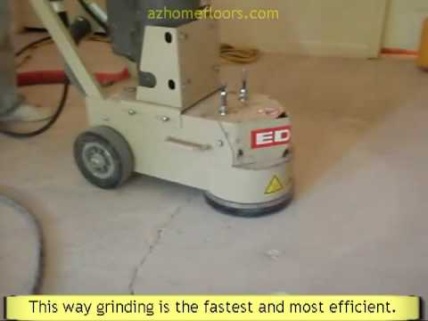 Concrete Grinding Virtually Dust Free To Remove High Spots