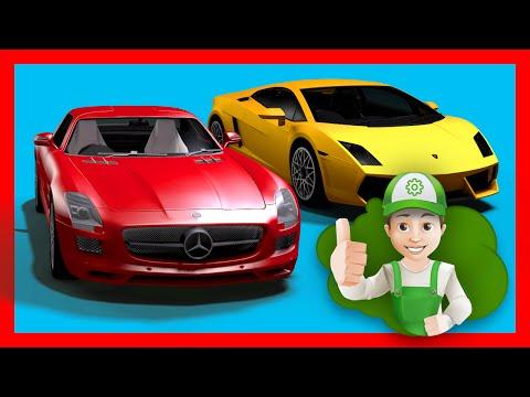 Мультик про машинки - Новые крутые машинки в гараже у Винтика. Супер быстрые машинки.