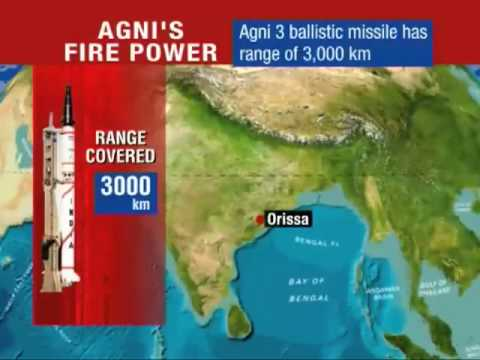 India Nuclear-capable Agni-III missile test-fired