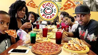 CICI'S ALL YOU CAN EAT PIZZA! FAMILY MUKBANG!