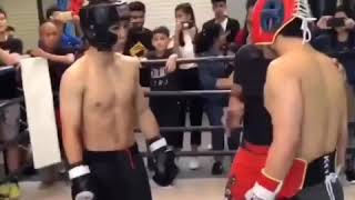 Manny Pacquiao Son first boxing match - just like his dad
