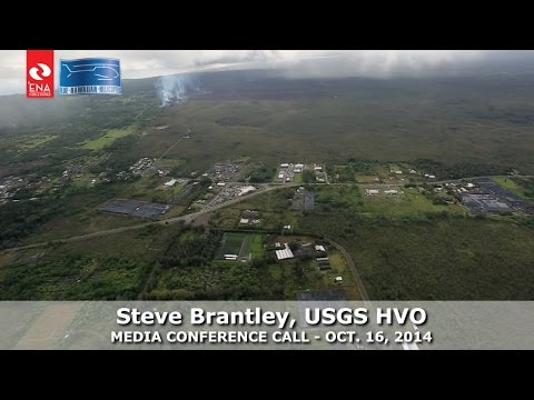 Lava Flyover Video with Stalled Flow Explanation by USGS Scientist