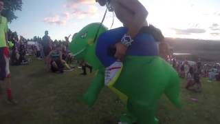 Inflatable T-Rex Adult/Kids Costume Blowup Dinosaur Fancy Dress Halloween Party