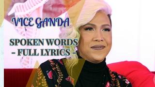 Vice Ganda SPOKEN WORDS full lyric video