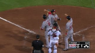 Uggla launches a three-run shot for the lead