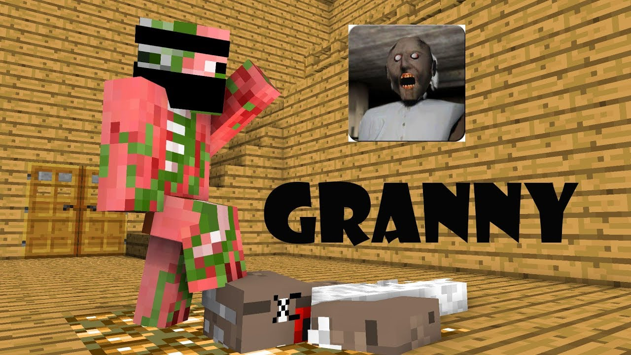 Monster School : GRANNY HORROR GAME CHALLENGE - Minecraft Animation