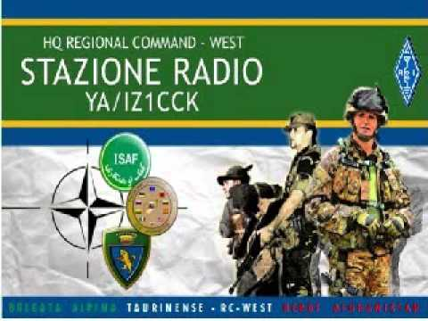 21195 kHz - YA/IZ1CCK working Italian stations