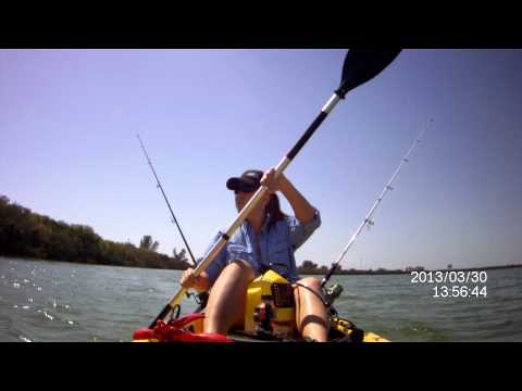 Kayak Fishing near Weedon Island, Tampa, Florida