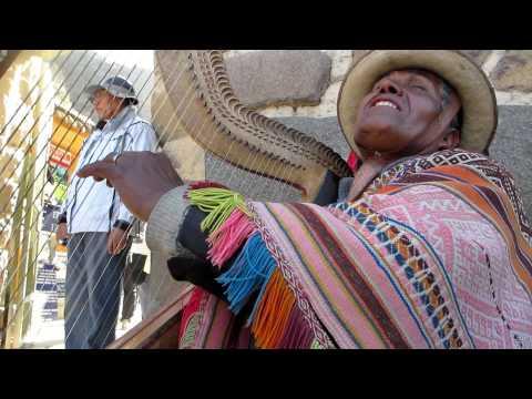 Juan Diego Sings an Andean song at Ollantaytambo, Peru