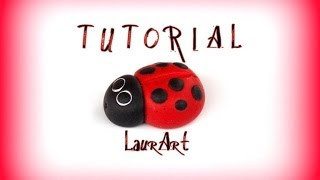 DIY TUTORIAL: coccinella in FIMO / Ladybird (polymer clay project - FIMO)