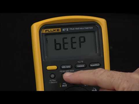 What Are The Power Up Options On The Fluke 87-V Multimeter?