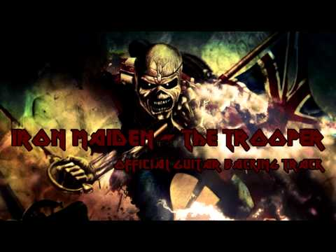 Iron Maiden - The Trooper [Official Guitar Backing Track]