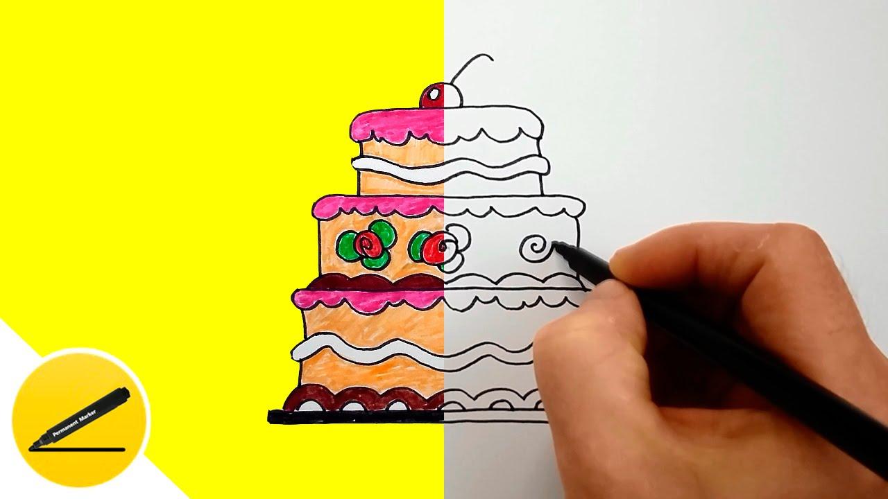 Что нарисовать по проще торты