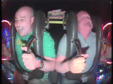 Scotsman screams like a girl on slingshot ride. (and wets himself)