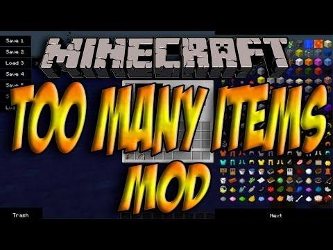 Minecraft 1. 7. 5 — Como Instalar TOO MANY ITEMS MOD — ESPAÑOL [HD] 1080p