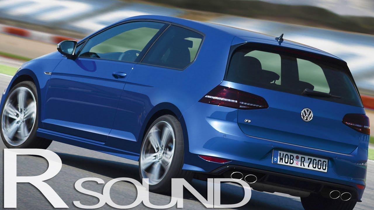New vw golf r mk7 sound launch control acceleration