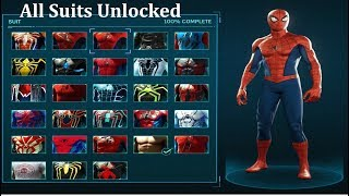 Spider-Man Ps4 - All Suits Unlocked