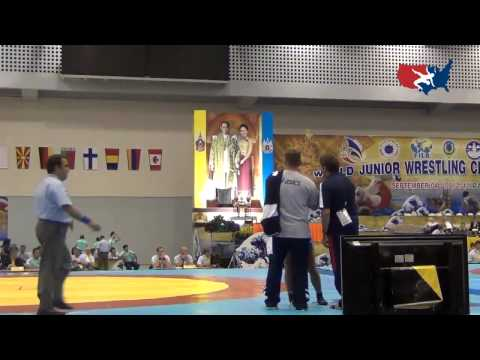2012 Junior Worlds - FW 63kg repechage - Alli Ragan (USA) vs. Nadine Wienauge (GER)