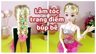 Ami DIY/ Làm tóc, trang điểm cho búp bê Lelia/ doll hair tutorial