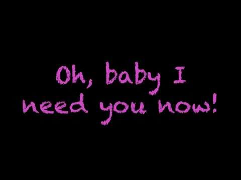 need You Now (glee Cast Version) - Lyrics video
