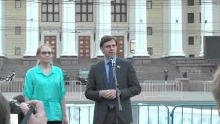 Митинг в защиту исторической Москвы. Выступление Елены Шуваловой и Андрея Клычкова