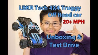 Unboxing and Road Test drive LBKR Teck 4x4 Truggy RC car truck 20+ MPH