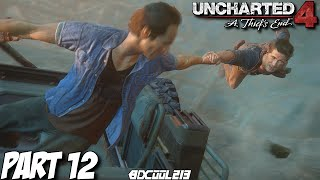 Uncharted 4 Gameplay Walkthrough Part 12 The Two Towers - PS4 Let's Play