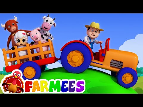Old MacDonald had a farm | Nursery rhymes | 3D rhymes | Children song by Farmees