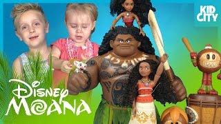 Disney Moana Movie Toys Unboxing with Mystery Minis & Moana Dolls by KIDCITY