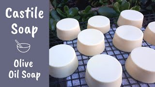 My favourite, Castile Soap made with 100% olive oil (the most gentle soap!)