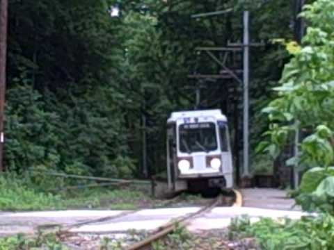 Paper Mill Rd SEPTA 101 Trolley Stop Springfield PA
