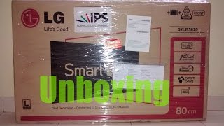 LG 32LB5820 32 inches full HD LED TV UNBOXING...Flipkart purchase..smart TV full HD