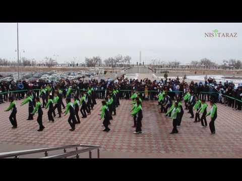 Флешмоб в поддержку Универсиады в Алматы