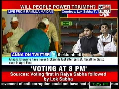 Jyotiraditya Scindia on Lokpal bill.mpg