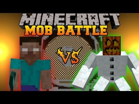 Herobrine Vs. Mutant Snow Golem - Mob Battles - Herobrine Mob Mod