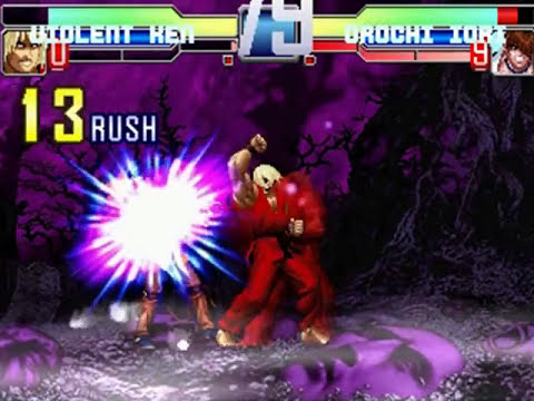 PC_Mugen: Violent Ken vs. Orochi Iori in the Village In The Maniac World