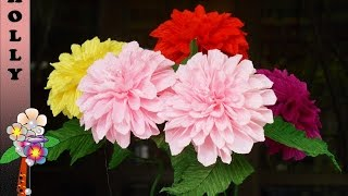 How to make paper flowers Dahlia