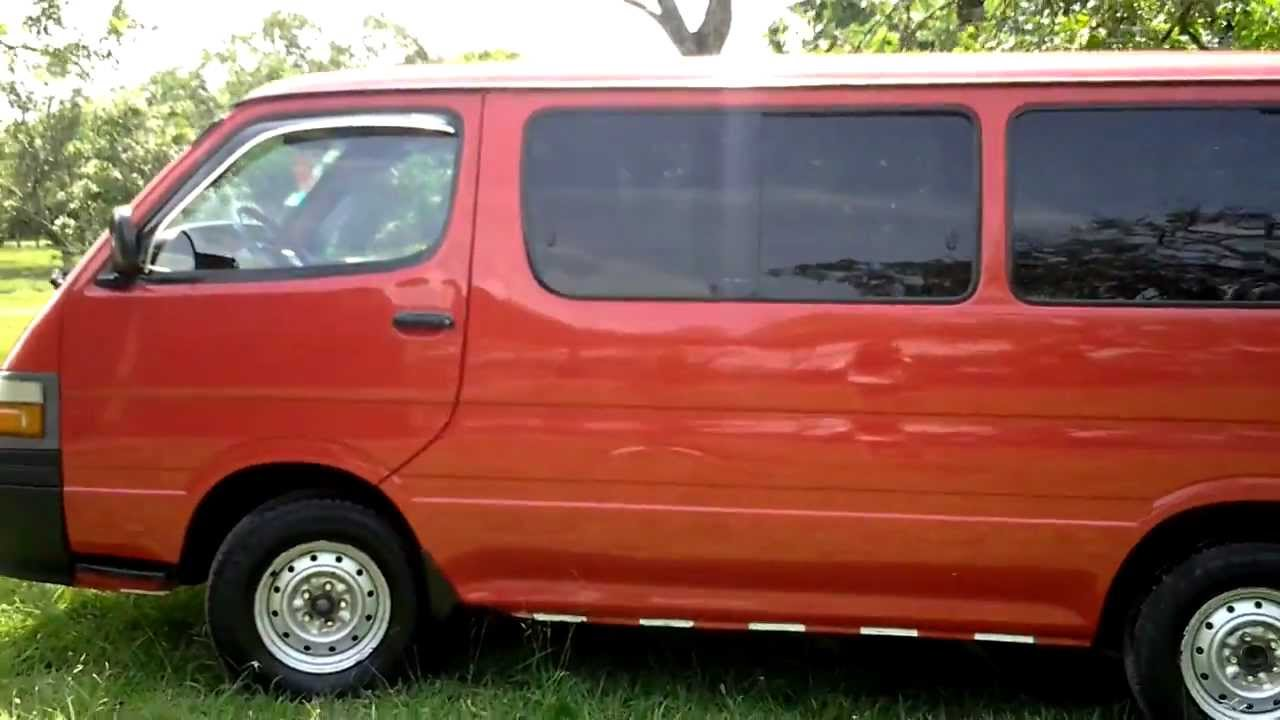 Toyota Hiace 2005 Diesel 15 Pasajeros Manual 4x2 3 0 Youtube