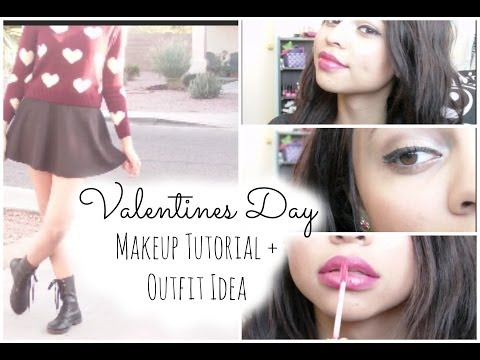 ♡Valentines Day Makeup & Outfit Idea!♡