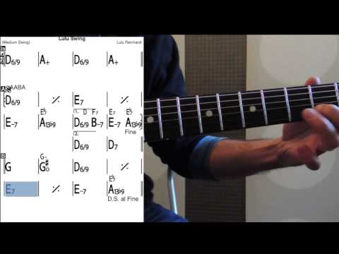 Lulu Swing - Guitar Lessons - Slow Tempo - Tab + Melody