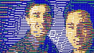 Thumb Empleados de Google armando un mural con Cubos Rubik